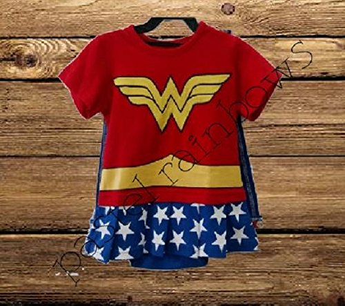 Personalized Baby Wonder Woman Outfit-1st Birthday Outfit-Wonder Woman Halloween Baby Costume]()