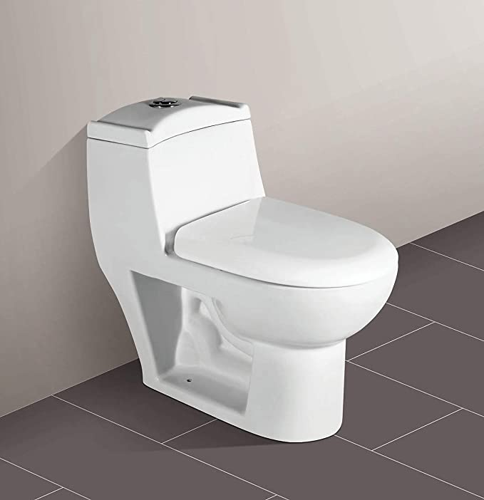 Ceramic One Piece Western Toilet/Commode/Water Closet Siphone Flushing  System S Trap - White : Amazon.in: Home Improvement