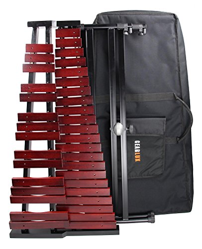 Gearlux 37-Key Wooden Xylophone with Mallets, Stand, and Gig Bag