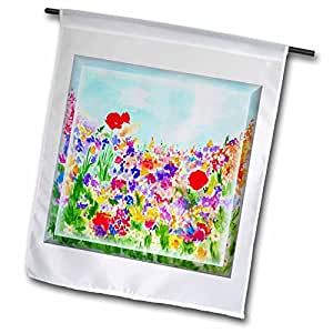 Susan Brown Designs Flower Themes - Summer Flowers in Garden - 12 x 18 inch Garden Flag (fl_48132_1)