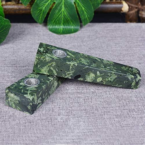 ナチュラルグリーンフラワークリスタルパイプ、手作りパイプギフト、アートコレクション、クリスタルの装飾として使用することができます