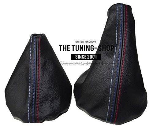 The Tuning-Shop Ltd For Bmw E36 E46 1991-2005 Manual Black Leather Shift & E Brake Boot With Mpower Stitching