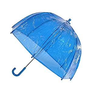 Kids Clear Bubble Umbrella by totes (Blue)