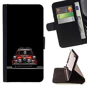 Momo Phone Case / Flip Funda de Cuero Case Cover - Mini Cooper rojo;;;;;;;; - HTC One M9