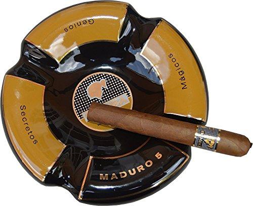 Best Cuban Cigars (Extravaganza Collection - Cigar Ashtray (Round Black & Orange))