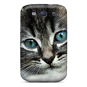 TKo690tBHk Case Cover, Fashionable Galaxy S3 Case - Blue Eye Cat