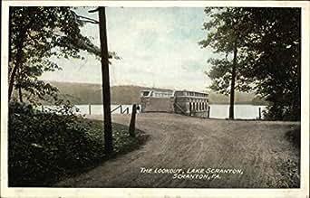 the lookout lake scranton scranton pennsylvania original vintage postcard. Black Bedroom Furniture Sets. Home Design Ideas