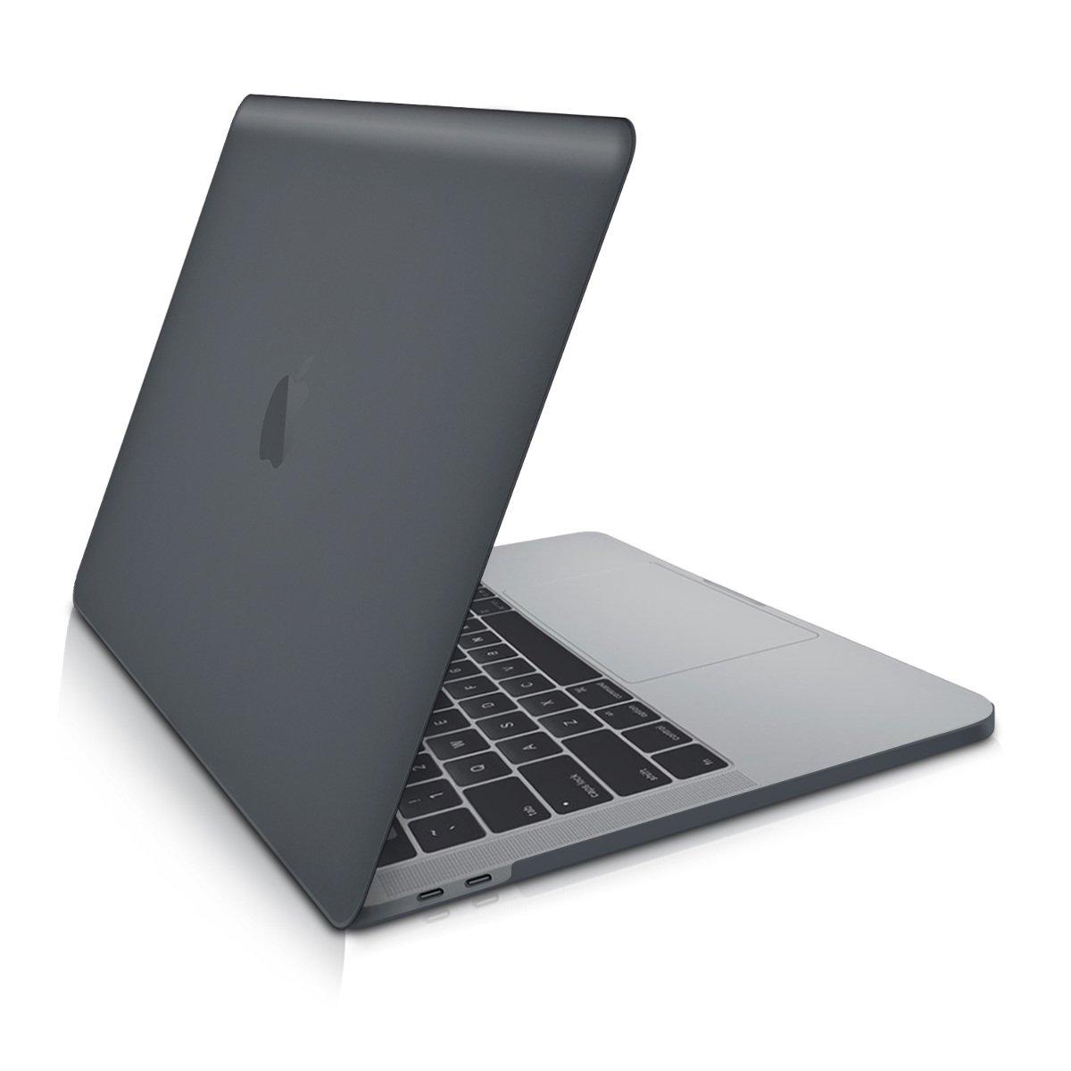 Funda Fina de Goma kwmobile Carcasa Dura de Laptop para Apple MacBook Pro 13 a Partir de 2016 - dise/ño Dont Touch my Mac Blanco//Negro