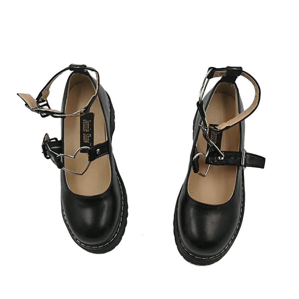 JRenok Plate-Forme de Femmes Chaussures Round Toe Sweet Lolita Belle Adorable poup/ée Pompes Classiques des Talons Hauts