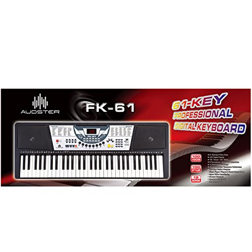 Audster FK-61, 61-Key Professional Digital Keyboard Electronic Piano with LED Display