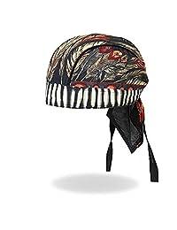 Authentic Bikers Premium Headwraps- High Quality Micro-Fiber & Mesh Lining HEADWRAP