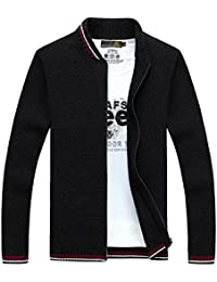 Fanhang Men's Cardigan Sweater