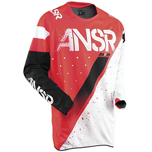 (Answer Racing A17.5 Elite Limited Edition Halo Men's Off-Road Motorcycle Jerseys - Red/White/Large)