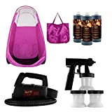 Maxi-Mist Lite Sunless Spray Tanning KIT, Tent, Machine Airbrush Tan, Maximist PINK