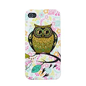 Meaci Apple Iphone 5 5s Case Soft Smooth TPU Material with Classic& Unique Owl Glitter Shimmering Bling Powder Pattern (owl-X)