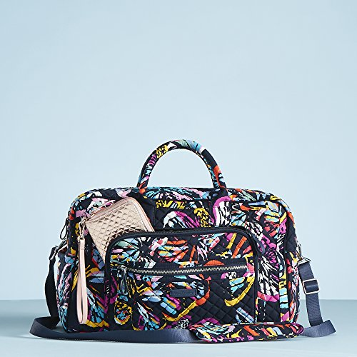 Vera Bradley Iconic Compact Weekender Travel Bag, Signature Cotton, Butterfly Flutter by Vera Bradley (Image #6)