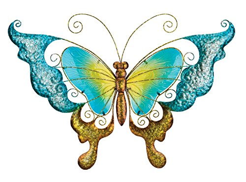 Regal Art & Gift 11667 Butterfly Decorative Metal Wall Art, 28