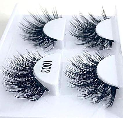 Amazon.com : 2 Pairs Natural False Eyelashes Fake Lashes Long Makeup 3D Mink Eyelash Extension For Beauty, 1003 : Beauty