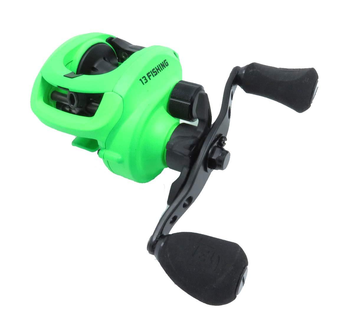 13 FISHING Inception Sport Z Inception Sport Z Baitcast Reel – 7.3 1 Gear Ratio – Left Handed Fresh Salt ,