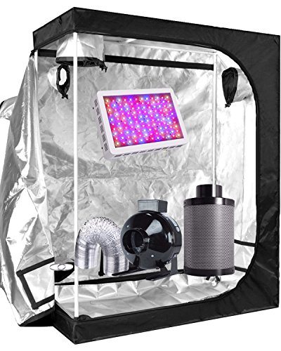 $268.00 indoor grow tent reviews Funlife Super Indoor Growing System/Indoor Grow Tent and LED Grow Lights System+Grow Tents Air Filtre Kits-4″ Grow Tents Carbon Air Filter Combo (300W LED+48X24X60″ Tent+4 INCH Carbon Filter Combo) 2019