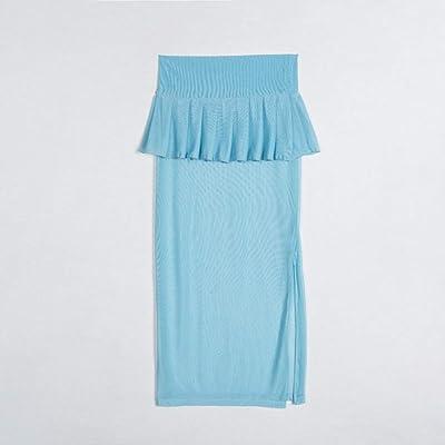 QBXDQ Falda Corta Las Mujeres del Verano De Malla Ver A Través De Las Faldas De Las Colmenas Sólidas Transparentes Escarpadas Cortas Faldas Azules De Playa Falda Dividida: Deportes y aire libre