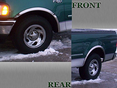 Fender Trim Expedition - QAA FITS EXPEDITION 1997-2002/F-150 1997-2003 FORD & NAVIGATOR 1998-2002 LINCOLN (4 Pc: Stainless Steel Fender Trim - Clip on or screw in, hardware included, 4-door) WZ37383
