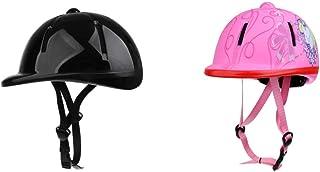 Baoblaze 2pcs Casque de Sécurité pour Équitation Sport Équestre Scolarité Protection Noir/Rose