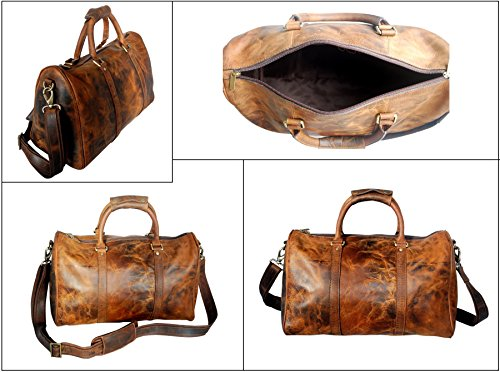 Leather Duffel Bags For Men - Airplane Underseat Carry On Luggage By ... cd0585604deab