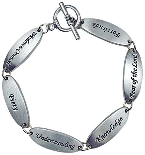 Cathedral Art LB108 Confirmation Gifts of The Holy Spirit Link Bracelet, 7-1/2-Inch in Length