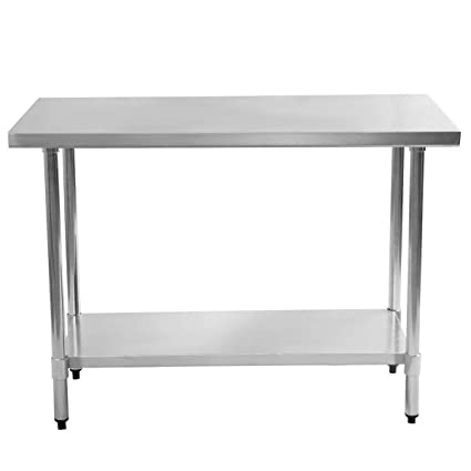 Amazoncom X X Stainless Steel Food Prep Table - 36 x 48 stainless steel table