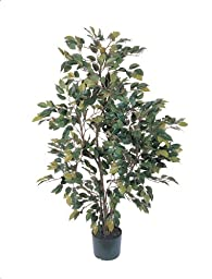 Nearly Natural 5074 Ficus Silk Tree, 4-Feet, Green