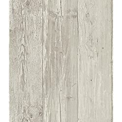 York Wallcoverings ZB3347 Weathered Wood Plank Wallpaper - Ultra Removable