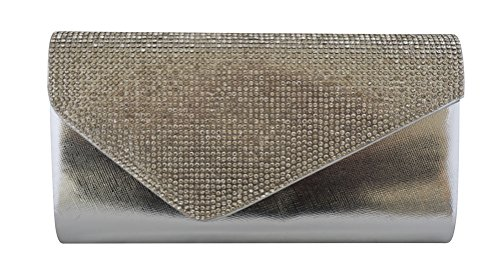 Chicastic Rhinestone Crystal Minaudiere Cocktail