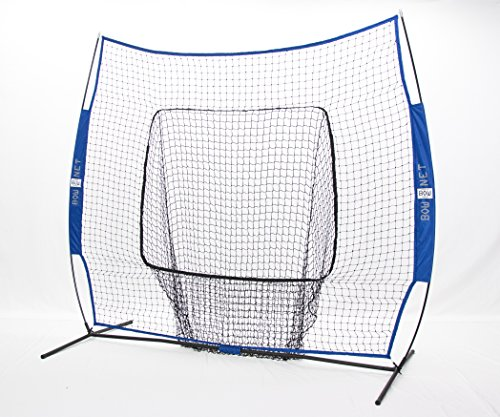 Bownet Big Mouth Portable Baseball/ Softball frame w/ Royal blue Net