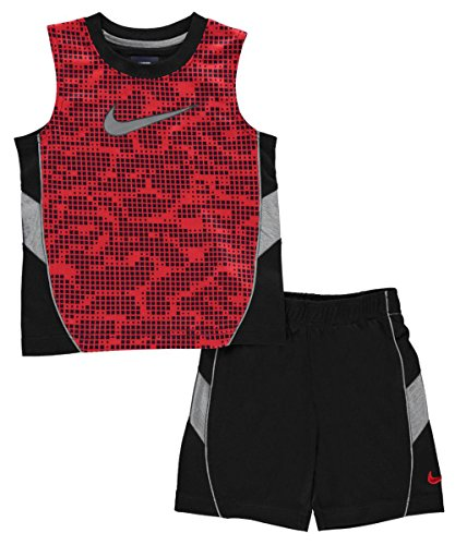 Nike Little Boys' Toddler 2-Piece Outfit (Sizes 2T - 4T) - black, 4t (Nikes For Toddlers)
