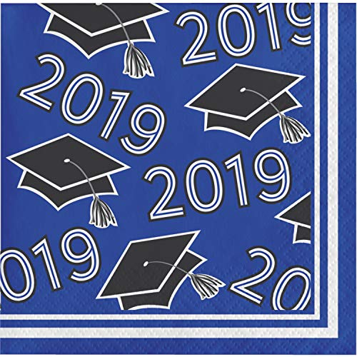 Blue Class of 2019 Beverage Napkins, 108 ct -