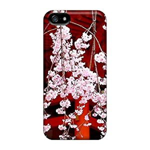 New Arrival Case Cover With LvKmMFk1808osNLS Design For Iphone 5/5s- Japanese Cherry Blossom