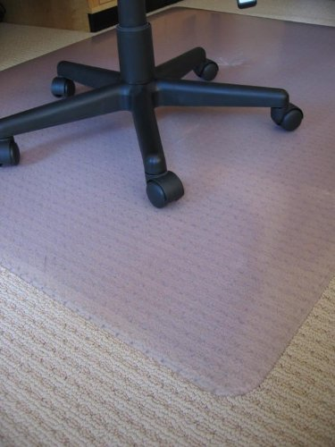 Chair Mats 48'' x 72'' without Lip for Carpeted Floors - Premium Thickness 1/5''