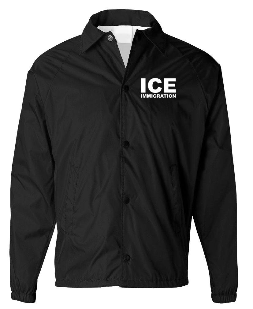 ICE IMMIGRATION - border patrol immigrant - Mens COACHES Jacket, XL, Black by The Goozler