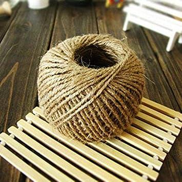 100m Hemp Natural Jute Twine Hessian String Cord (3 ply 3mm)