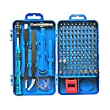 Precision Screwdriver Set, Apsung 110 in 1 Professional Screwdriver Multi-Function Magnetic Repair Tool Kit Compatible with iPhone/Ipad/Android/Computer/Laptop/Computer/PC etc (Blue)