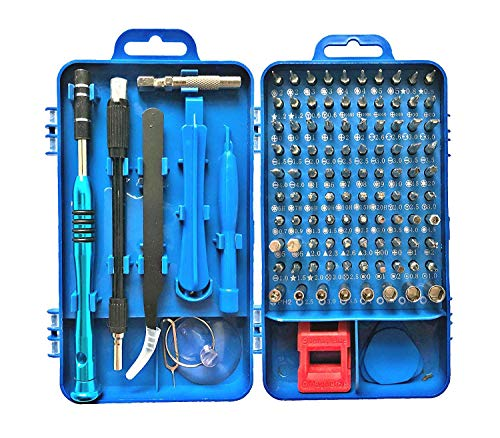 Precision Screwdriver Set, Apsung 110 in 1 Professional Screwdriver set, Multi-function Magnetic Repair Computer Tool Kit Compatible with iPhone/Ipad/Android/Laptop/PC etc (Blue)  (Best Computer Repair Tool Kit)