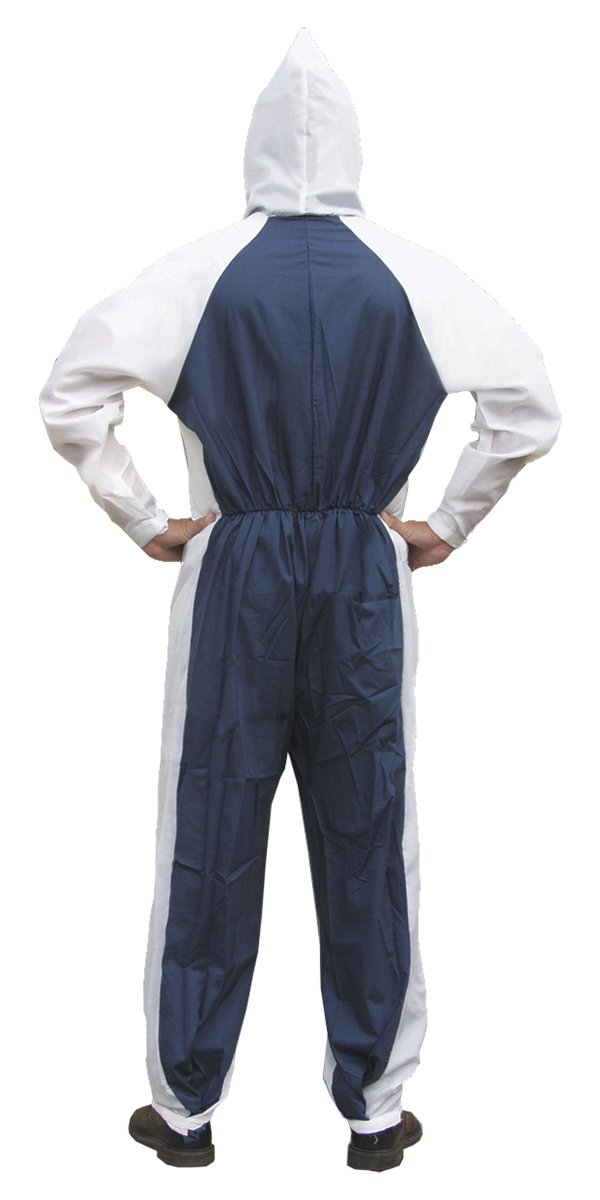 SAS Safety 6937 Moonsuit Nylon Front/Cotton Back Coverall, Medium by SAS Safety (Image #2)