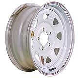 Arcwheel White Spoke Steel Trailer Wheel - 15'' x 6'' Rim - 5 on 4.5 2,830lb Capacity