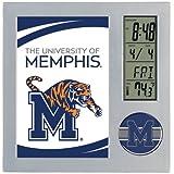 WinCraft NCAA University Memphis Desk Clock, Black