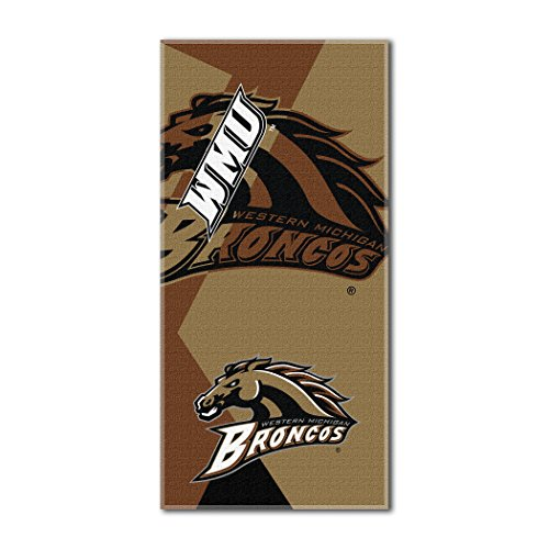(The Northwest Company Officially Licensed NCAA Western Michigan Broncos Puzzle Beach Towel, 34