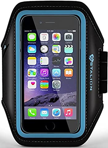 iPod Touch Armband: Stalion Sports Running & Exercise Gym Sportband (Cyan Blue) Water Resistant + Sweat Proof (for Apple iPod Touch 5th & 6th (Ipod 6th Generation Strap)