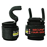 Best Weight Lifting Rod Hooks Heavy Duty Wrist Wraps Power Weight Lifting Training Gym Grips Straps Set of 2