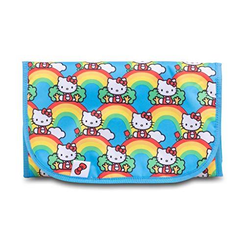 JuJuBe x Tokidoki Memory Foam Changing Pad | Travel-Friendly, Portable + Foldable Machine Washable Pad for Babies | Hello Kitty Hello Rainbow