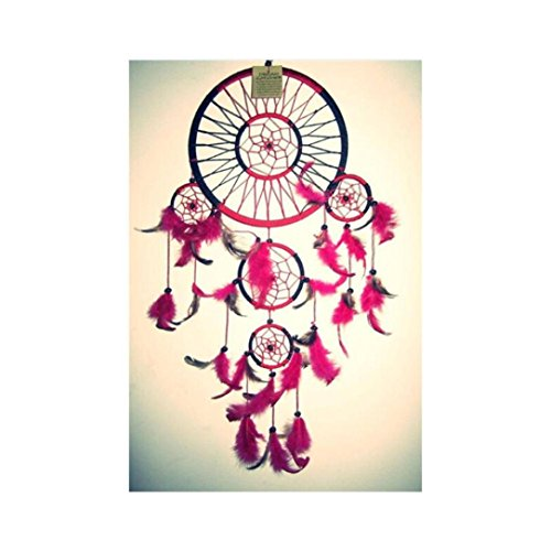 Yeefant Dream Catcher Embroidery Paintings No Fading 5D Canvas Rhinestone Pasted DIY Diamond Cross Stitch Home Wall Decor for Bedroom Living Room,12x10 Inch,Multicolor D